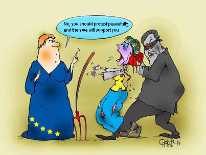 EU supporting peaceful protests