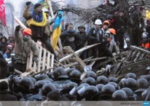 Liberty on the Barricades by Agence France-Press photographer Viktor Drachev