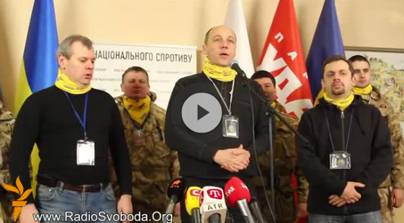 Screenshot of the video from Parubiy's presentation