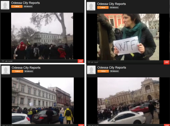 Photo: screenshot from http://www.ustream.tv/channel/odessa-city-reports