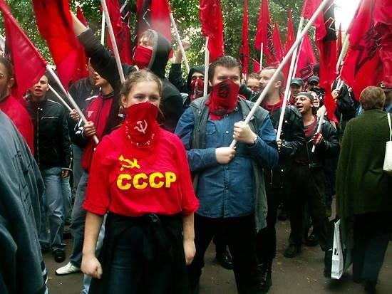 "Photo from Koleda's FB account. T-shirt says ""USSR"""
