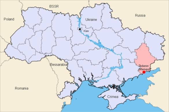 map Mariupol