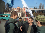Igor Garkavenko, with Yevhen Karas, the leader of Svoboda's neo-Nazi wing C14
